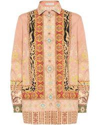 Etro - Bedruckte Bluse aus Baumwolle - Lyst