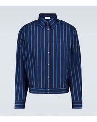 Lanvin Gestreiftes Hemd aus Baumwolle - Blau