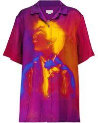 Dries Van Noten Camicia a stampa - Multicolore