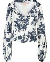 Brock Collection Sabrina Floral Cotton-blend Top - White