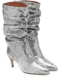 Paris Texas - Snake-effect Ankle Boots - Lyst