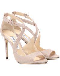 Jimmy Choo Emily 100 Sandals - Pink