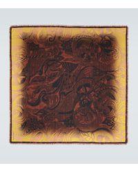 Dries Van Noten Floral Printed Silk Scarf - Brown