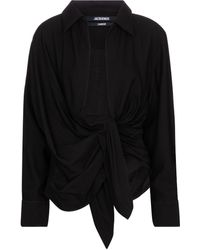 Jacquemus Camisa La Chemise Bahia de algodón - Negro