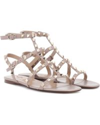 Valentino Rockstud Leather Sandals - Multicolour