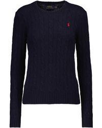 Polo Ralph Lauren Pullover aus Wolle und Kaschmir - Blau