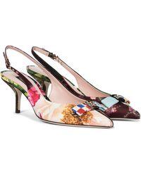 Dolce & Gabbana - Verzierte Slingback-Pumps - Lyst