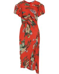 Preen By Thornton Bregazzi Meggy Georgette Midi Dress - Red