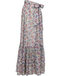Etro Falda wrap de algodón y seda print paisley - Azul