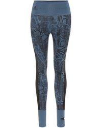 adidas By Stella McCartney High-Rise Leggings - Blau