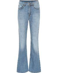 ALEXACHUNG High-Rise Flared Jeans - Blau