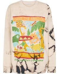 Stella McCartney Bedrucktes Sweatshirt aus Baumwolle - Natur