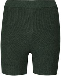 Live The Process Arch Ribbed-knit Shorts - Green