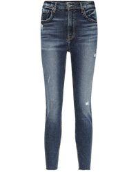 GRLFRND The Kendall High-rise Skinny Jeans - Blue
