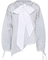 JW Anderson Pleated Blouse - Blue