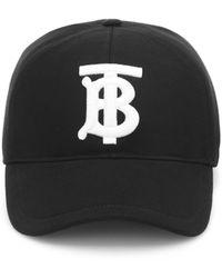 Burberry Gorra con monograma bordado - Negro