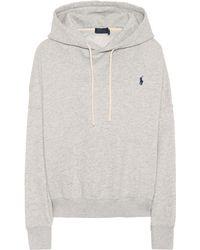 buy online 71b20 15495 Hoodie aus einem Baumwollgemisch - Grau