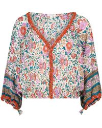 Poupette - Exclusivo en Mytheresa – blusa Ariel de algodón floral - Lyst