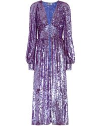 Attico - Sequinned Dress - Lyst