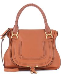 Chloé - Marcie Medium Leather Shoulder Bag - Lyst