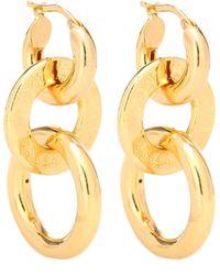Jil Sander Triple Hoop Earrings - Metallic