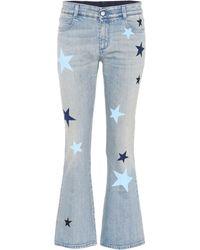Stella McCartney - Flared Jeans aus Stretch-Denim - Lyst