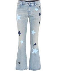 Stella McCartney Star-printed Flared Jeans - Blue