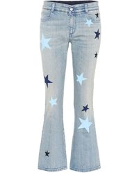 Stella McCartney - Star-printed Flared Jeans - Lyst