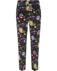 Erdem Giulia Silk Pajama Pants - Black