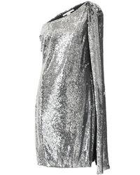 Stella McCartney One-Shoulder-Minikleid - Mettallic