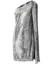 Stella McCartney One-shoulder Sequin Mini Dress - Metallic
