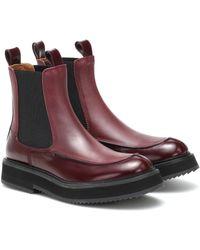 JOSEPH Chelsea Boots aus Leder - Rot