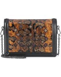 Bottega Veneta - Leather-trimmed Snakeskin Shoulder Bag - Lyst