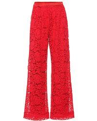 Dolce & Gabbana Pantaloni in pizzo - Rosso