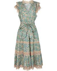 Ulla Johnson Lola Floral Cotton Midi Dress - Green
