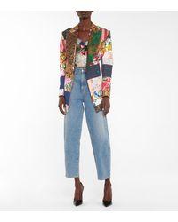 Dolce & Gabbana Blazer aus Jacquard und Brokat - Mehrfarbig
