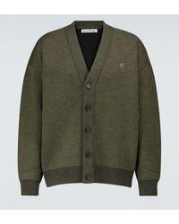 Acne Studios Cardigan oversize en laine mélangée - Vert