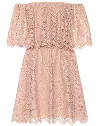 Valentino Miniabito off-the-shoulders in pizzo - Rosa