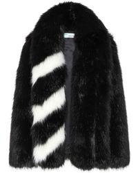 Off-White c/o Virgil Abloh - Faux Fur Coat - Lyst