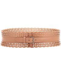Alaïa Leather Belt - Brown
