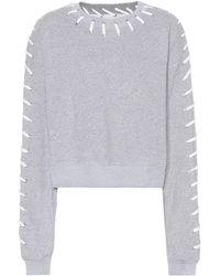 Jonathan Simkhai - Whipstitch Cotton Sweatshirt - Lyst