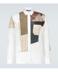 Junya Watanabe Military Patchwork Regular-fit Shirt - White