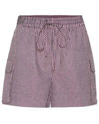 Ganni Shorts in misto cotone - Viola