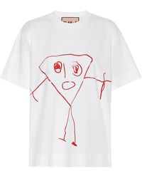 Plan C T-shirt in cotone con stampa - Bianco