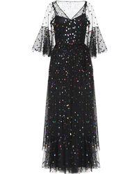 STAUD Spotted Tulle Dress - Black