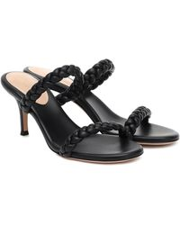 Gianvito Rossi Marley 70 Braided Leather Sandals - Black