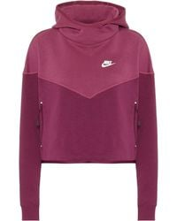 Nike Cotton-blend Hoodie - Red