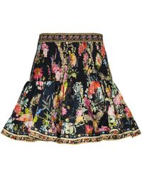 Camilla Minigonna in cotone con stampa - Multicolore