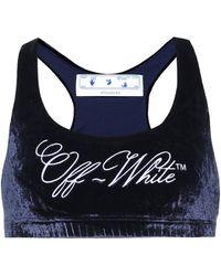 Off-White c/o Virgil Abloh Bralet de terciopelo - Azul
