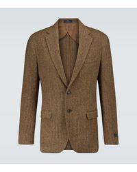 Polo Ralph Lauren Blazer droit en laine mélangée - Marron